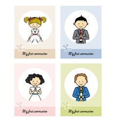 Set communion card vector