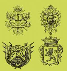 set of arms vector image vector image