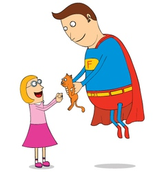 Super hero man vector image