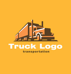 truck logo on dark background vector image