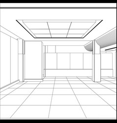 wire-frame office room eps 10 format vector image vector image