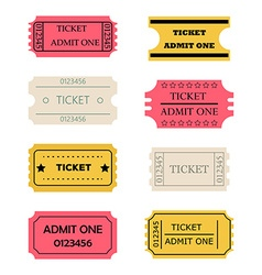 Ticket admit one set vector
