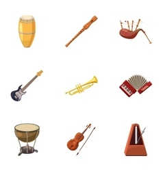 Device for music icons set cartoon style vector
