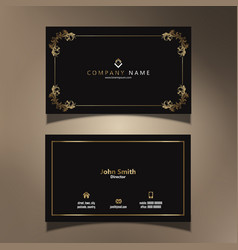 Elegant business card design vector