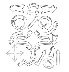 Arrows sketchy elements vector