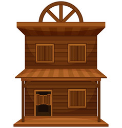 Wild west building made of wood vector