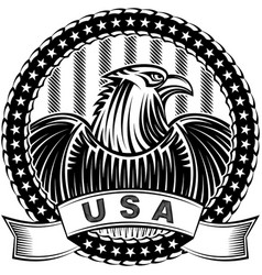american eagle natioal symbol usa fourth july vector image
