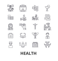 health healthcare fitness wellness doctor vector image