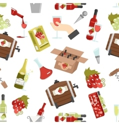 Wine Color Seamless Pattern vector image