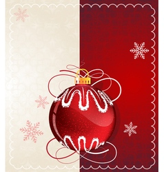 Red christmas ball vector