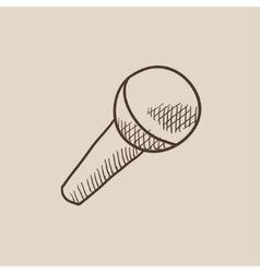 Microphone sketch icon vector