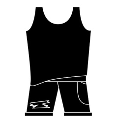 Sleeveless top with pants vector