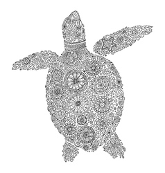 Abstract sea turtle vector