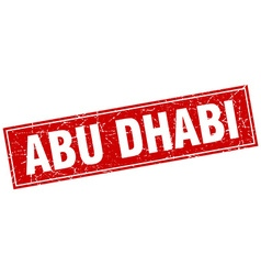 Abu dhabi red square grunge vintage isolated stamp vector