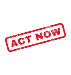 Act Now Text Rubber Stamp vector image
