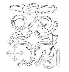 Arrows sketchy elements vector