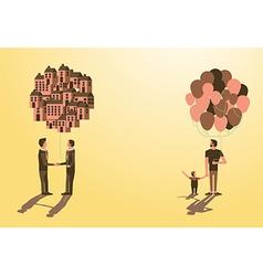 Balloon asset for kiddad businessman idea vector