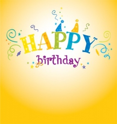 bright birthday vector image vector image