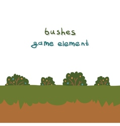 Bushes game element vector image
