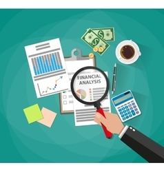 business analysis and planning financial report vector image vector image