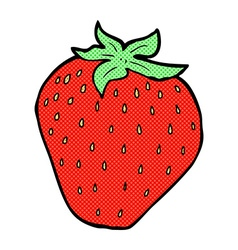 comic cartoon strawberry vector image