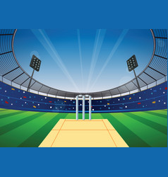 Cricket stadium background vector