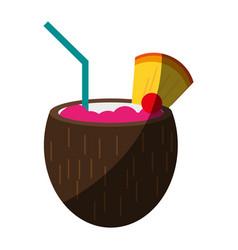 Delicious exotic drink vector