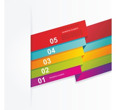 Design template numbered banners vector image vector image