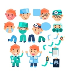 Doctor characters creation set vector
