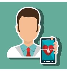 doctor smartphone medical service vector image vector image