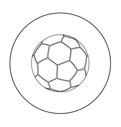 football icon outline single sport icon from the vector image vector image