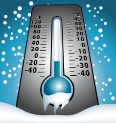 Frozen thermometer vector