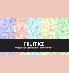 hexagon pattern set fruit ice seamless vector image vector image