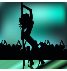 High quality girl striptease in club poledance go vector image vector image