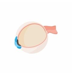 Human eyeball icon cartoon style vector image vector image
