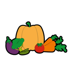 isolated cute vegetables vector image