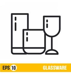 line icon glassware vector image