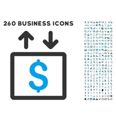 Money elevator icon with flat set vector