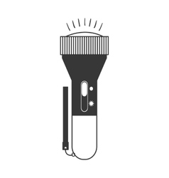 Monochrome silhouette of flashlight vertical vector