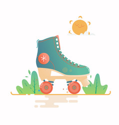 roller skate isolated on a vector image vector image