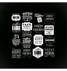 Set Of Vintage Retro vector image