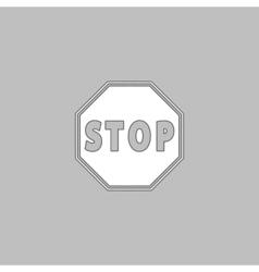 Stop Sign Icon computer symbol vector image vector image
