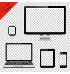 technology devices with transparent screen vector image vector image