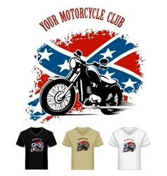 Template with Bikers Emblem vector image vector image