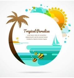 tropical paradise vector image