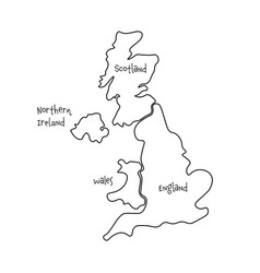United kingdom aka uk of great britain and vector
