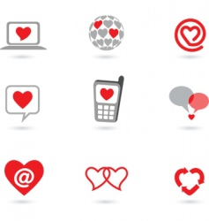 valentines icons vector image vector image