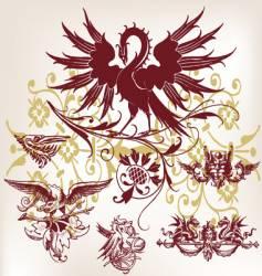 vintage bird vector image vector image