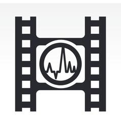 Wave audio icon vector