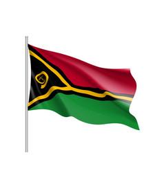 Waving flag of vanuatu vector